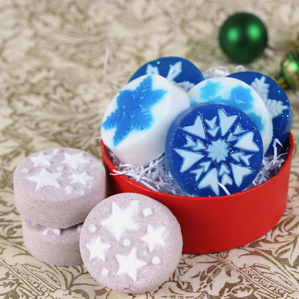 Modern Holiday Bath Fizzy and Soap Kit