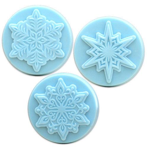 3 Snowflakes Mold
