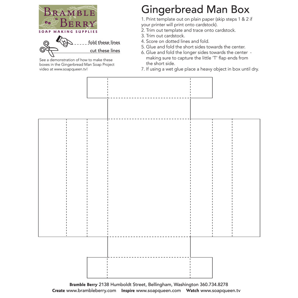 Box Template for Gingerbread Man