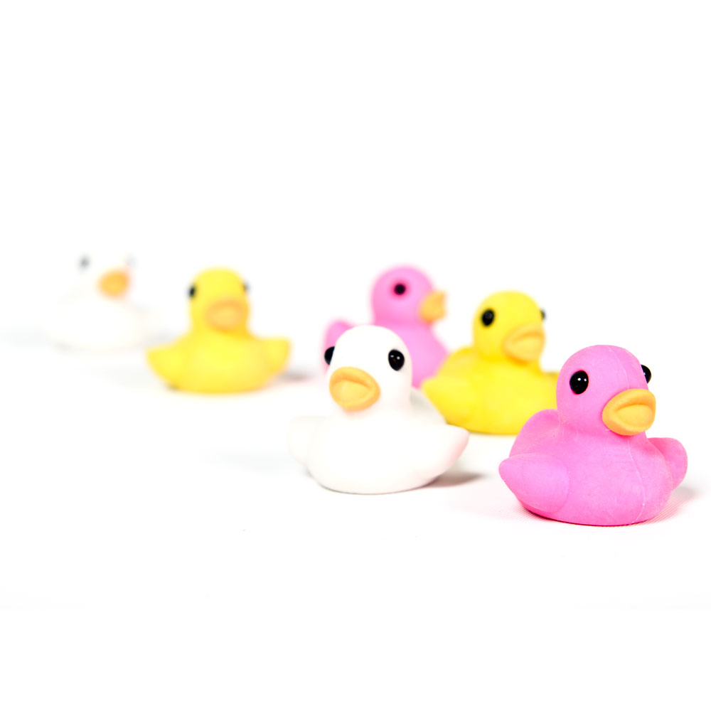 DISCONTINUED - Duck Eraser, 6 Pack