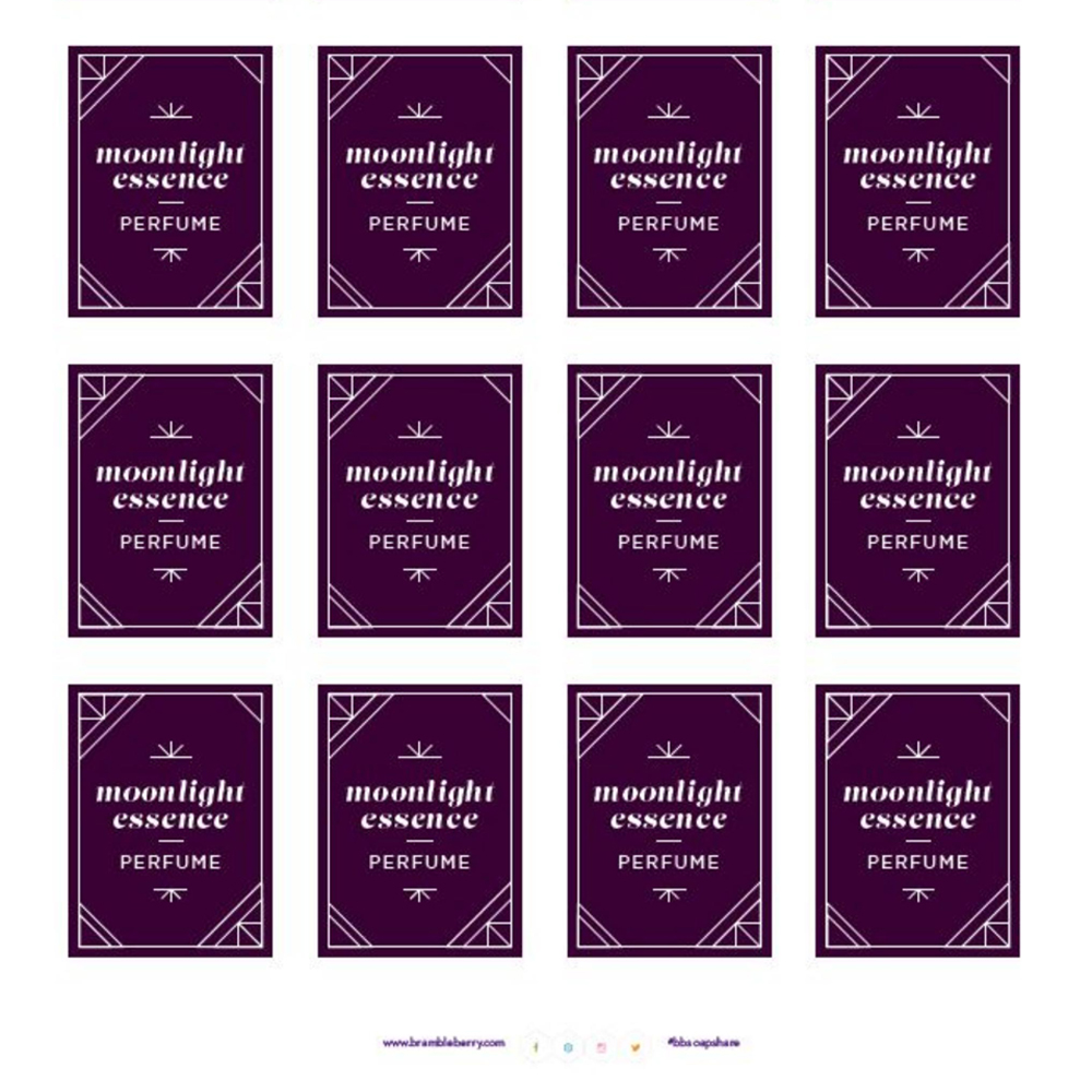 Moonlight Essence Perfume Labels - Free PDF