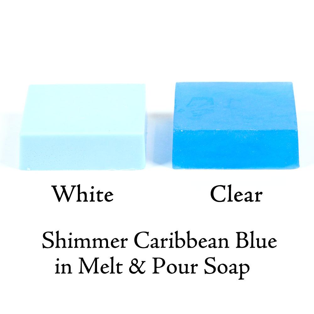 Color Block Shimmer Caribbean Blue