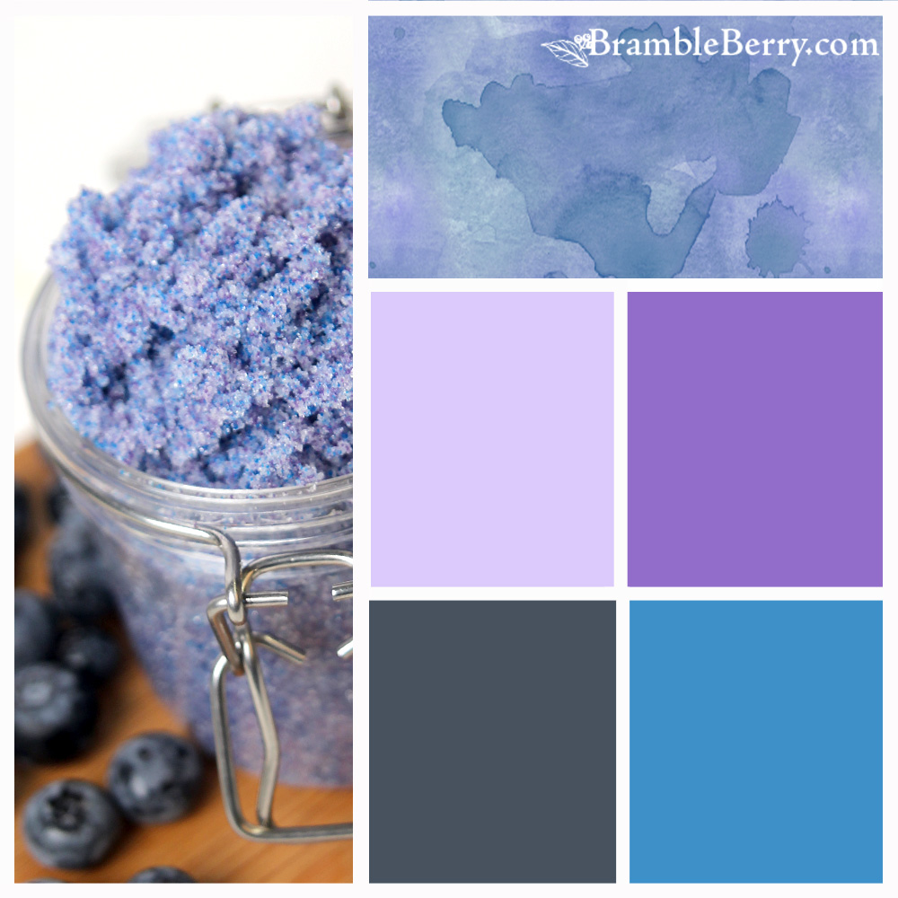 Blueberry Jam Fragrance oil Color Palette