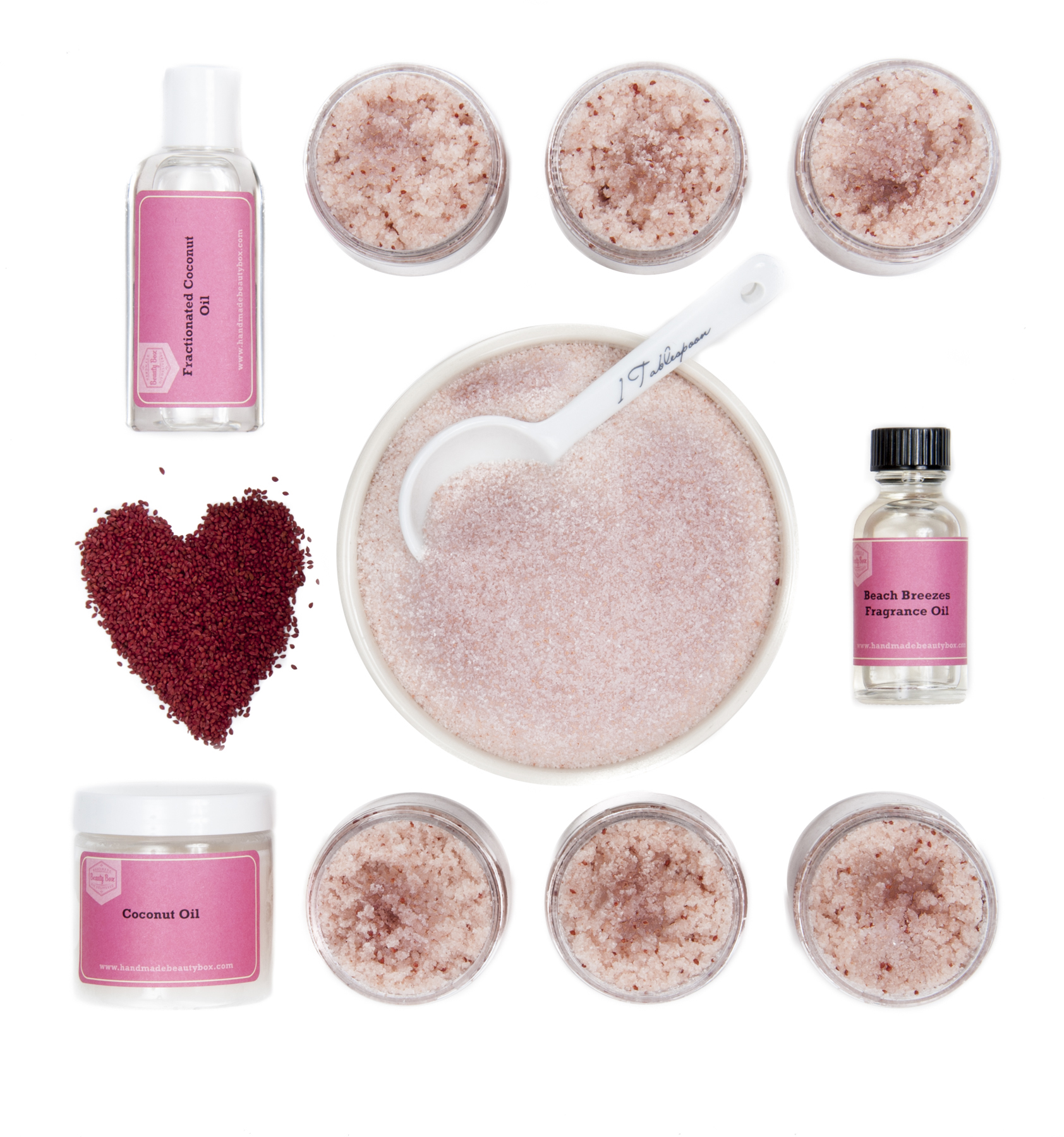Pink Salt Scrub Kit