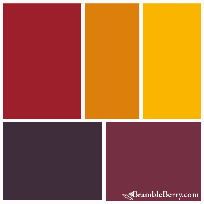 Color Palette idea for Vermont Maple fragrance