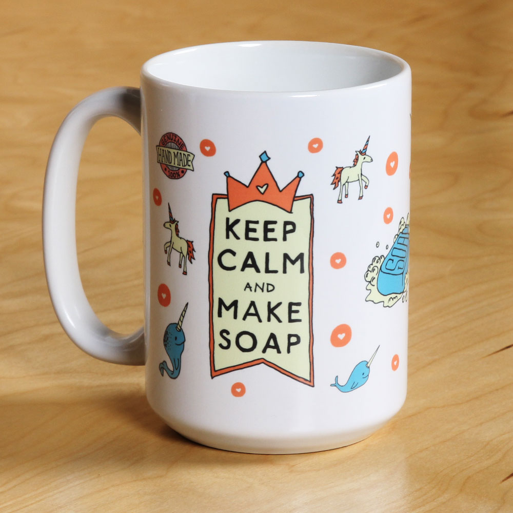 "DISCONTINUED -- ""Keep Calm and Make Soap"" Mug"