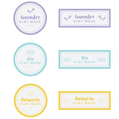 Books E Goods - Lip balm label template