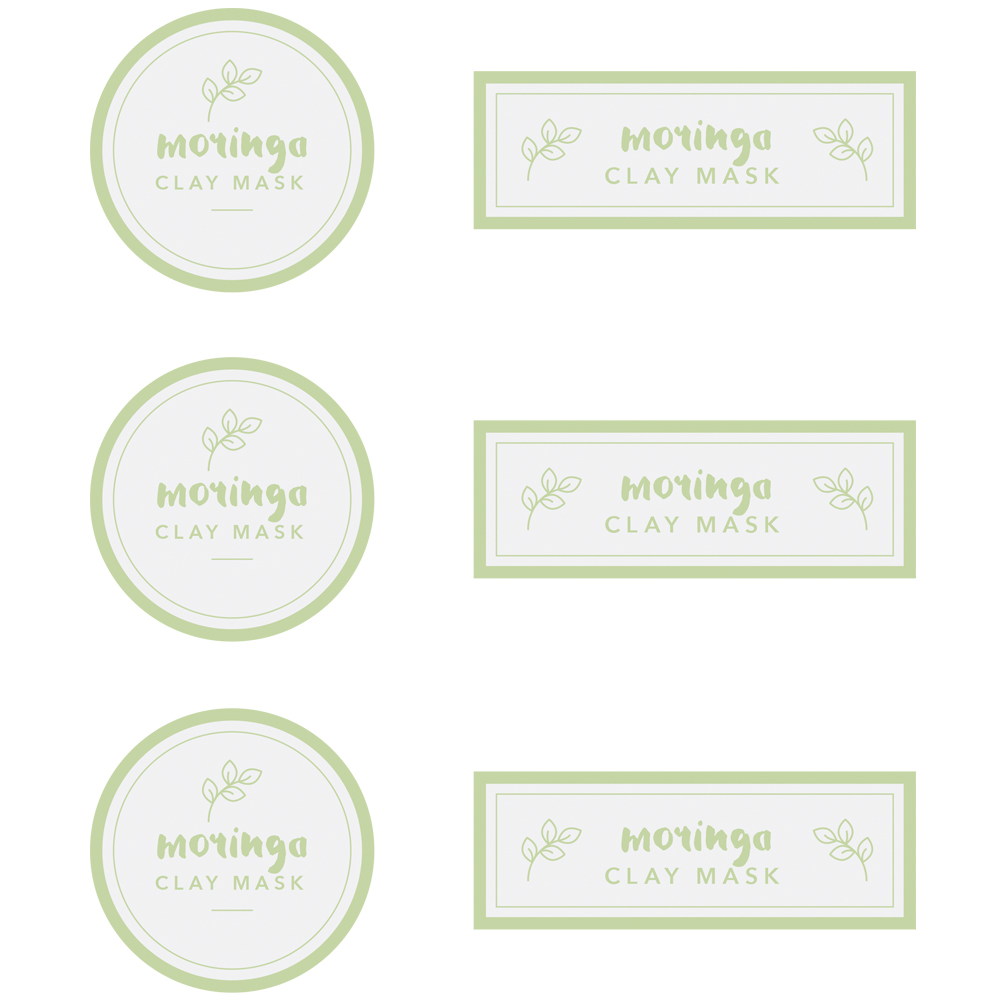 Moringa Clay Mask Label Template - Free PDF