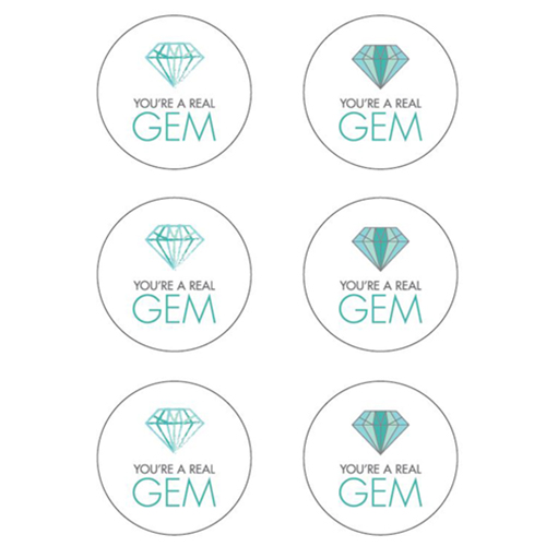 """You're a Real Gem"" Label Template - Free PDF"