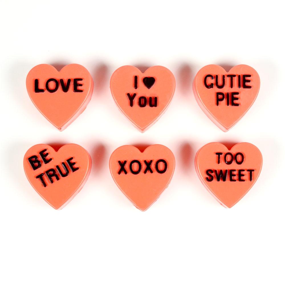 6 Cavity Valentine Hearts Silicone Mold