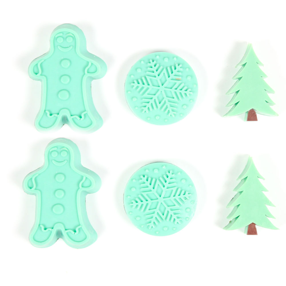 6 Cavity Christmas Assortment Silicone Mold