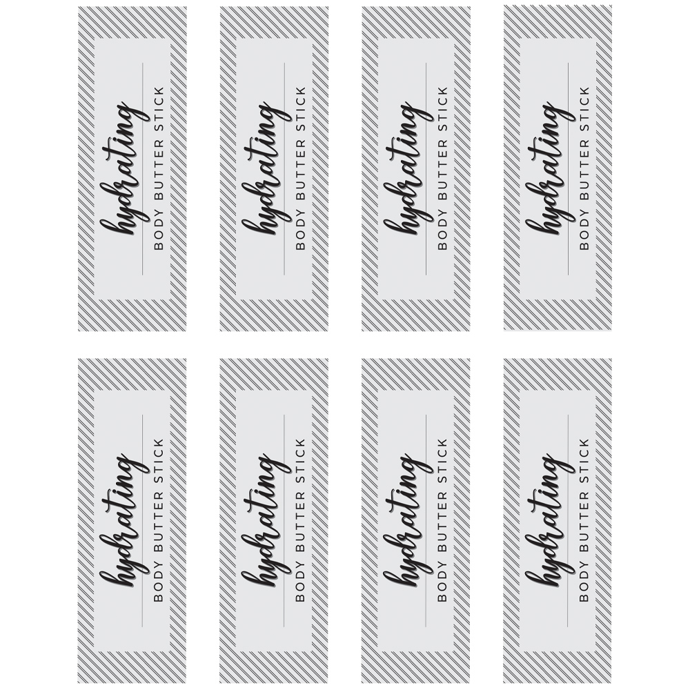 Body Butter Stick Labels - Free PDF