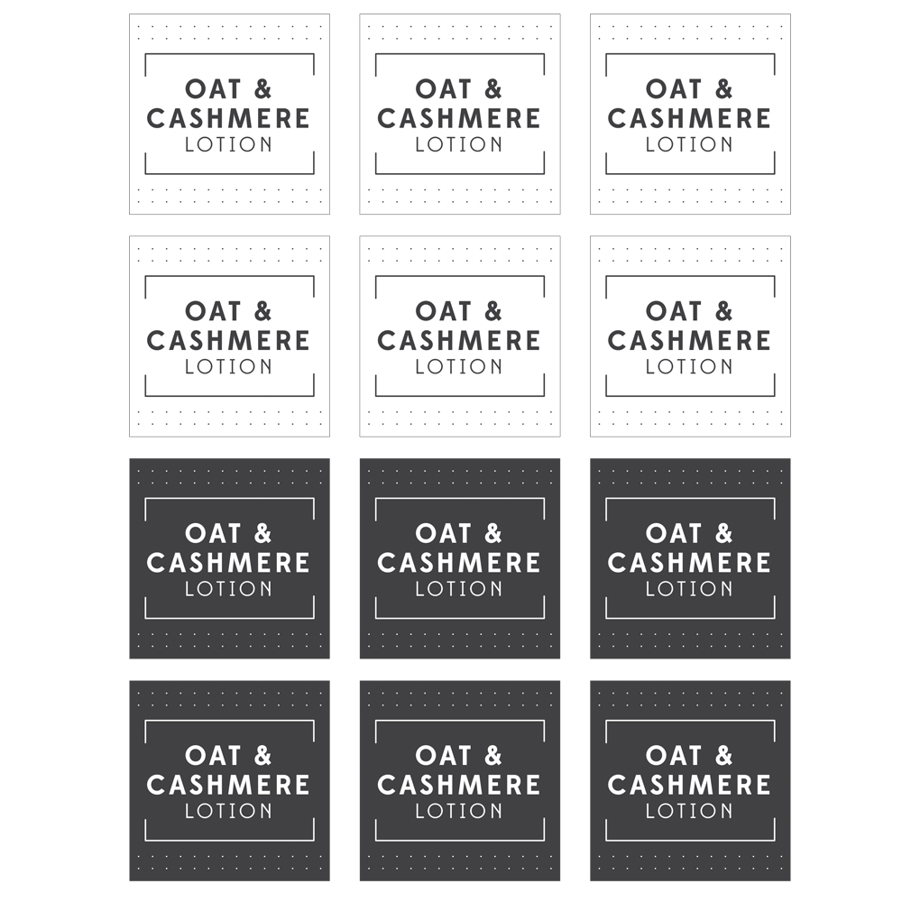 Oat & Cashmere Lotion Label Template - Free PDF