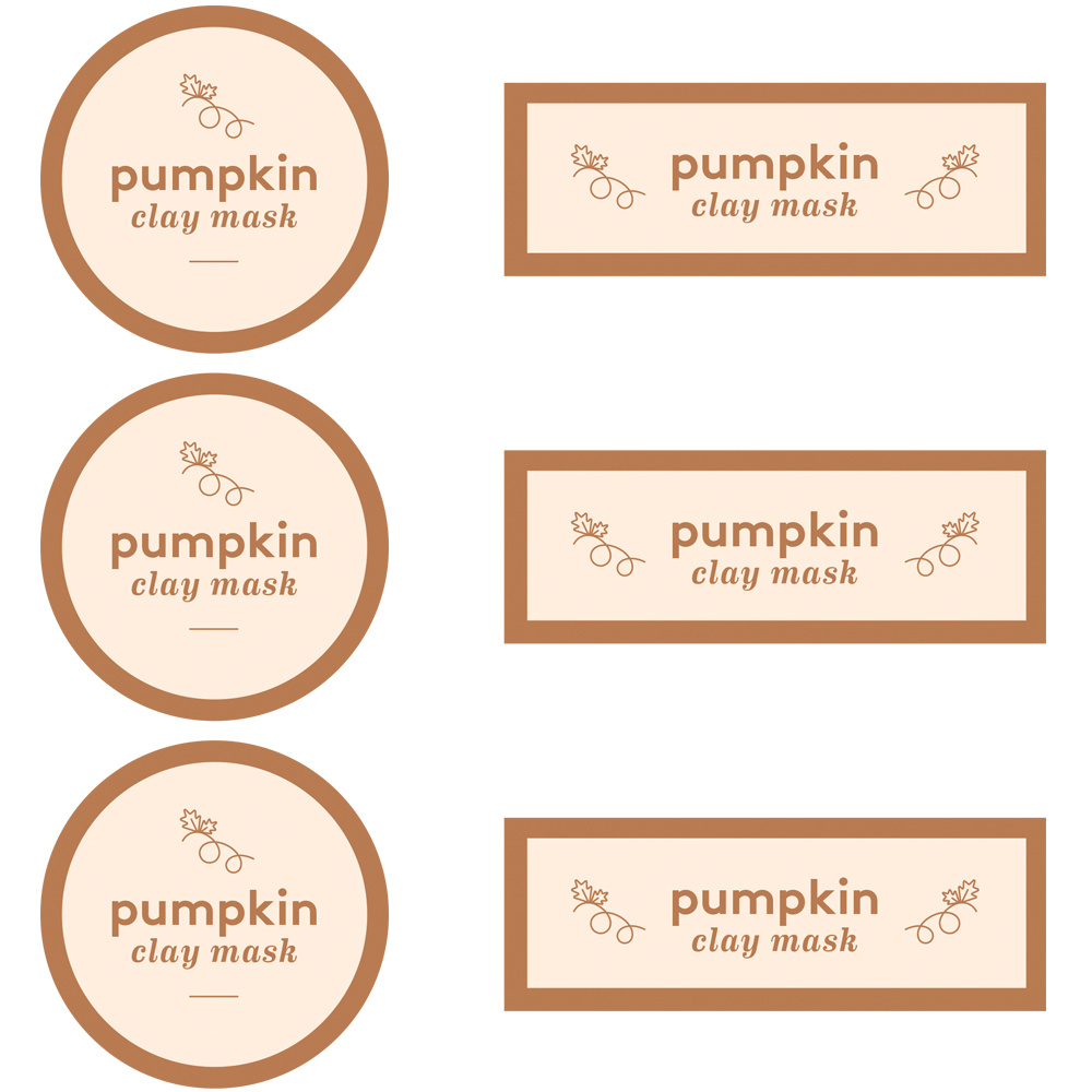 Pumpkin Clay Mask Label Template - Free PDF