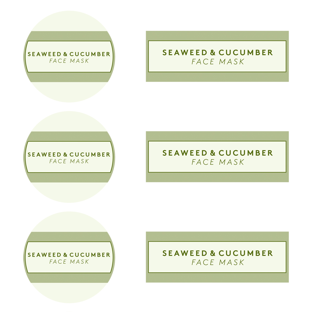 Seaweed and Cucumber Face Mask Template - Free PDF