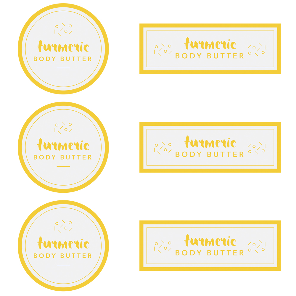 Turmeric Body Butter Label Template - Free PDF