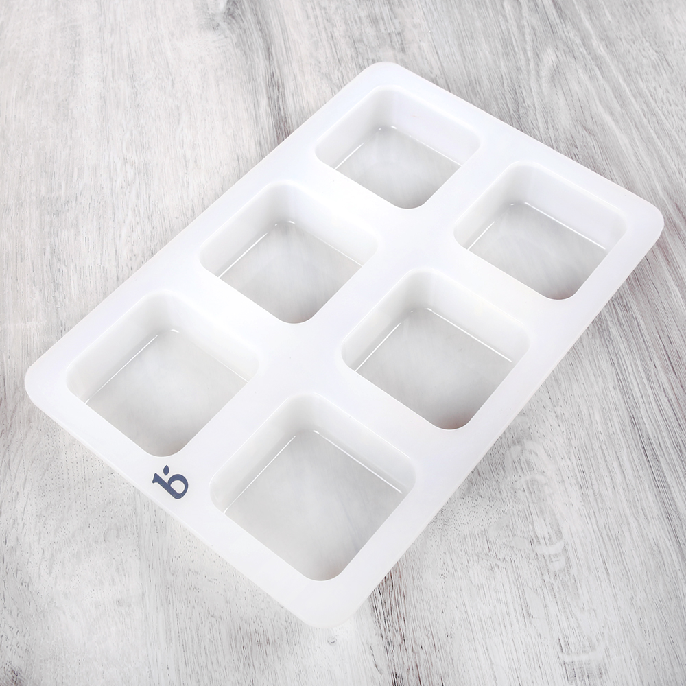6 Cavity Silicone Square Mold