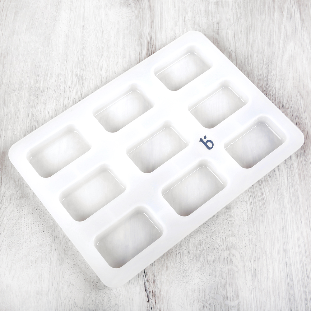 9 Cavity Silicone Guest Rectangle Mold