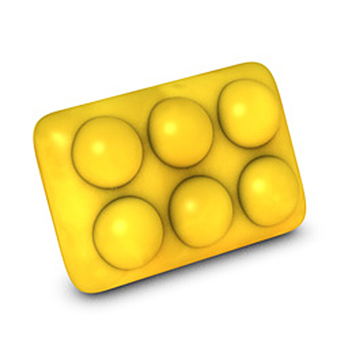 Rectangle Massage Bar 3D Mold