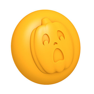 Spooked Pumpkin 3D Mold