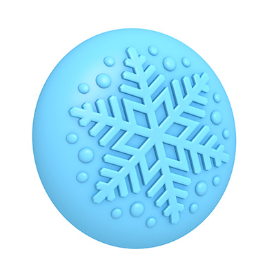 Winter Snowflake 3D Mold