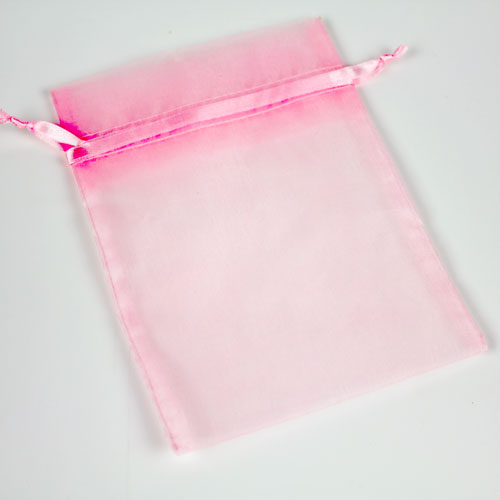 Pink Organza Bag Large