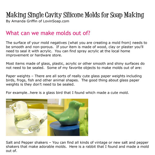 E-Book Making Silicone Molds