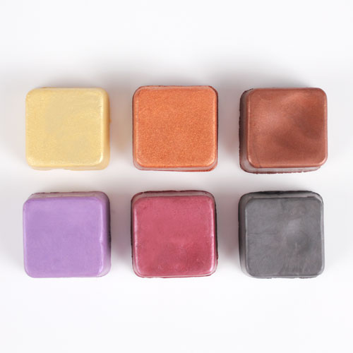 Color Block Sampler- Earth Tones Shimmer