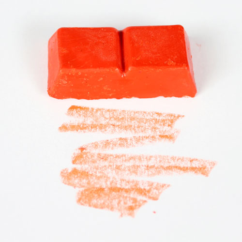 Orange Wax Dye Block