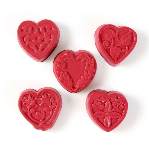 Guest 5 Hearts Mold