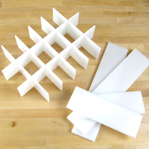 DISCONTINUED -- Guest Dividers for 9 Bar Birch Mold (makes 18 bars)