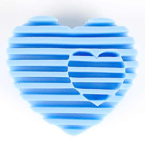 Kudos Intersecting Heart Silicone Mold