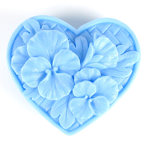 Kudos Pansy Heart Silicone Mold