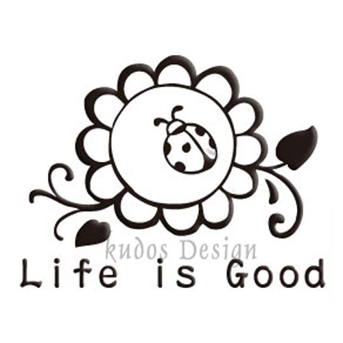 Life is Good Soap Stamp
