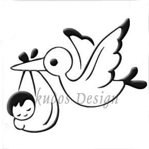 Stork & Baby Acrylic Soap Stamp