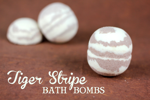 Buttercream and Snickerdoodle Tiger Stripe Bath Bomb