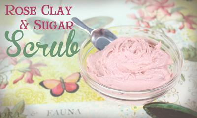 RoseClay and Sugar foaming bath Scrub