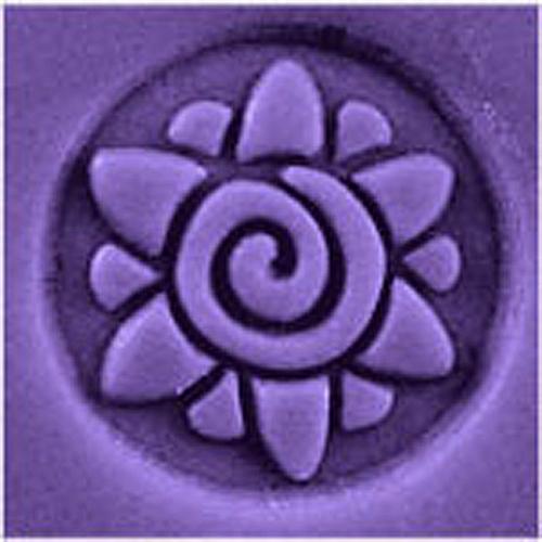 Spiral Flower Stamp
