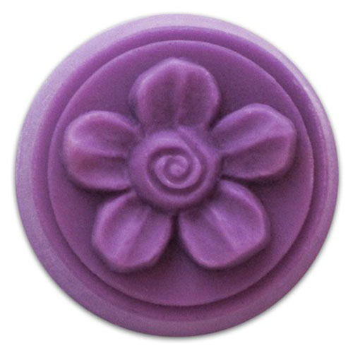 Spiral Flower Wax Tart  Mold