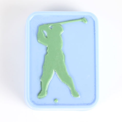 Golfer Soap Mold