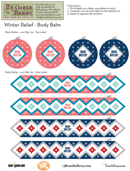 winter relief body butter label template free pdf. Black Bedroom Furniture Sets. Home Design Ideas