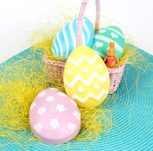 Soap for Easter in a basket