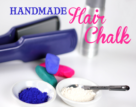 Make your very own cosmetic grade hair chalk.