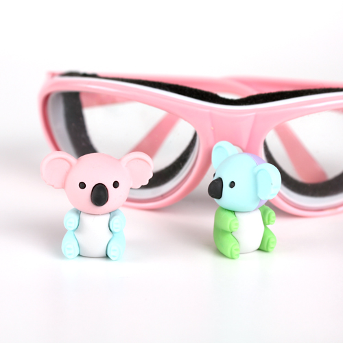 Koala Erasers hangin out with Goggles